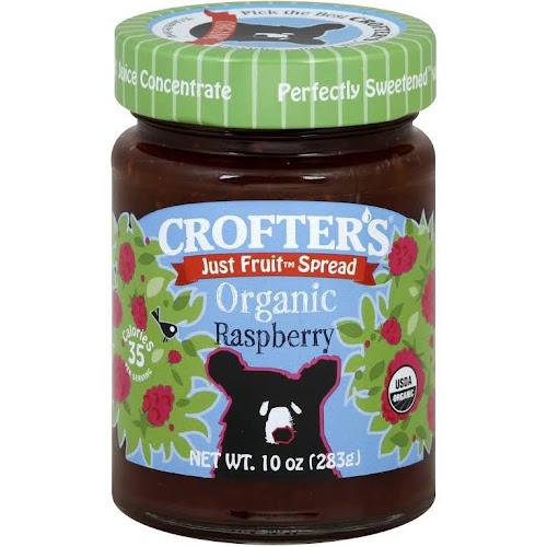 Crofter's Just Fruit Spread, Raspberry - 10 oz jar