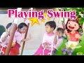 Nafisa Bermain Ayunan Bersama Teman-temannya di Sekolah ❤ Playing Swing
