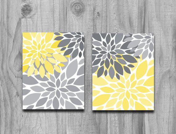 Domestic Decor Yellow And Gray
