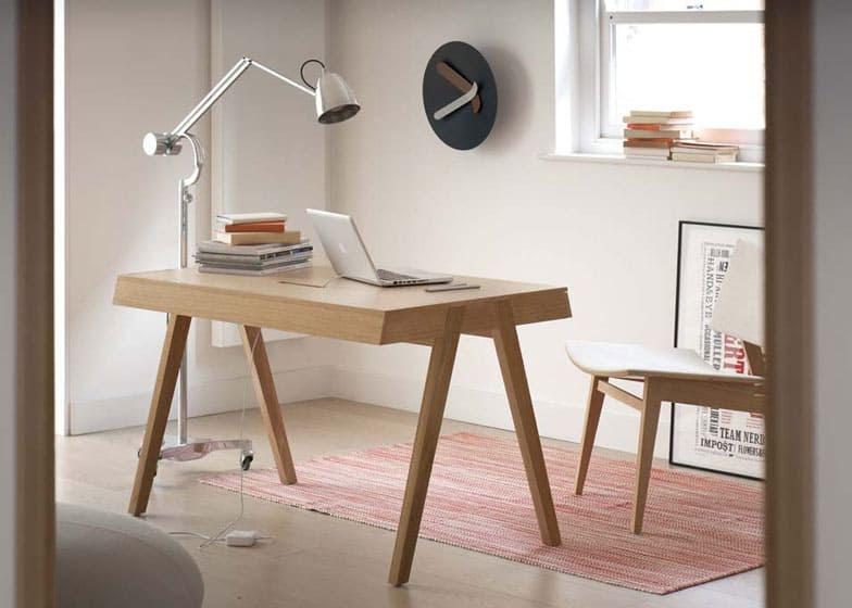 Design Chameleon Office Desk is both Mid-century and Modern