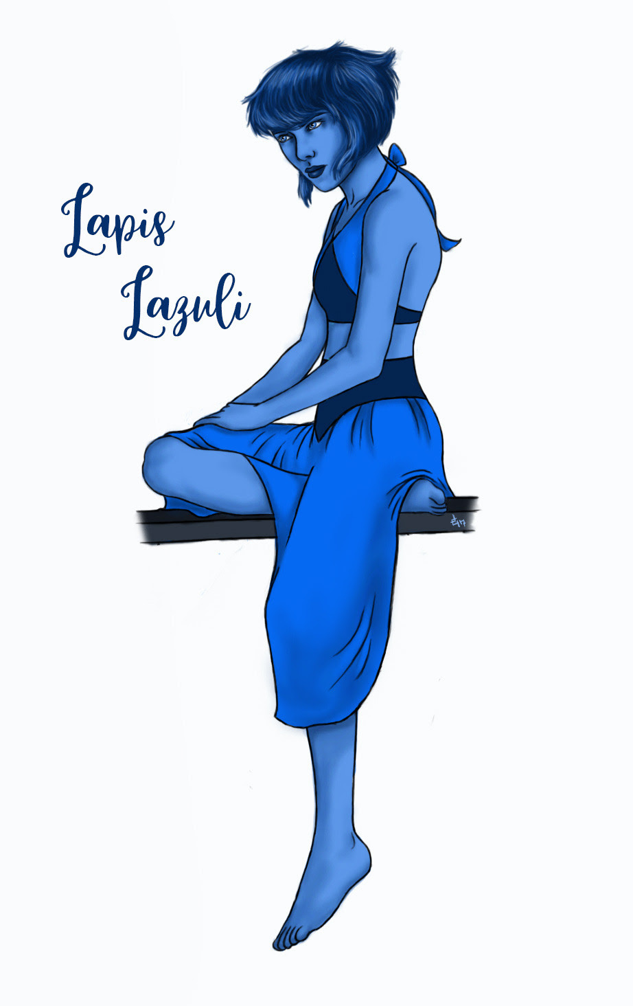 Today's Sketch - Lapis Lazuli My commissions are open. Send me a message or IM me if you're interested.
