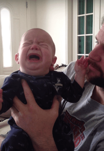 Deaf And Blind Child Cannot Stop Crying- Daddy's Magic 'Method' Of Soothing Him Has Moms And Dads Cheering - Czaal is a source for latest happening around the world.