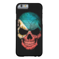 Filipino Flag Skull on Black Barely There iPhone 6 Case