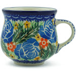 Polish Pottery UNIKAT Espresso Cup 2 oz Garden Divinity Pattern by Ceramika Artystyczna