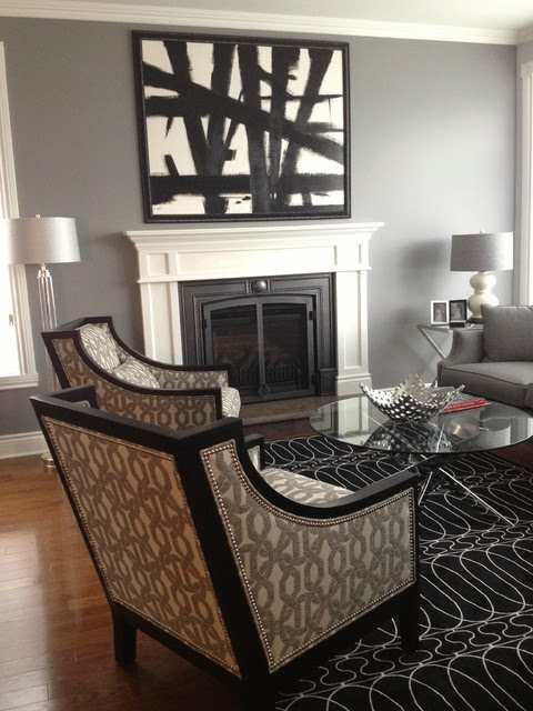 Art Deco inspired living and dining room