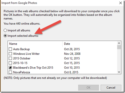Getting Your Pictures Down from the Google Photos Cloud
