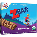 CLIF Kid ZBAR Organic Chocolate Chip Snack Bars - 6ct
