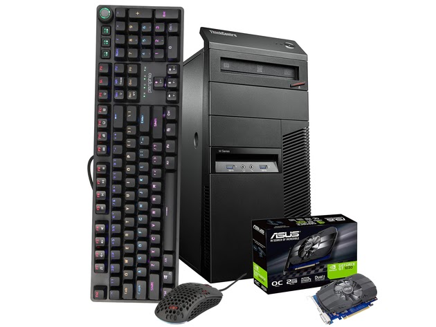 Lenovo Gaming PC Computer 16GB 500GB SSD 2TB Nvidia GT1030 WiFi Windows 10 HDMI PERIPHIO 4-IN-1 Black Keyboard, Mouse + Pad, Headset for $628