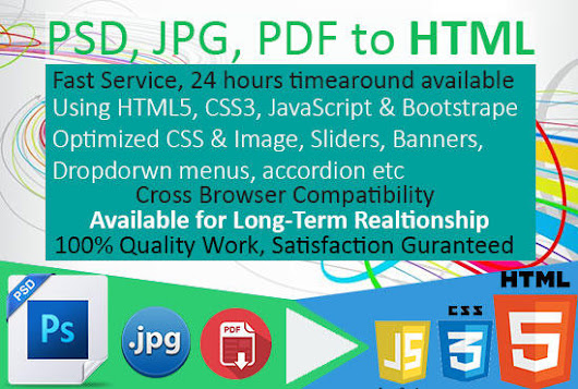 I will convert psd to HTML template very fast
