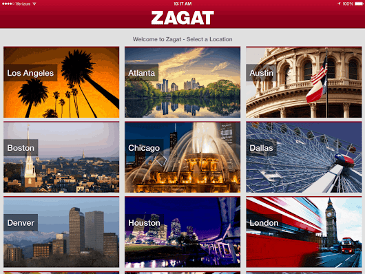 Zagat for iPad Is Now Available for free in App Store