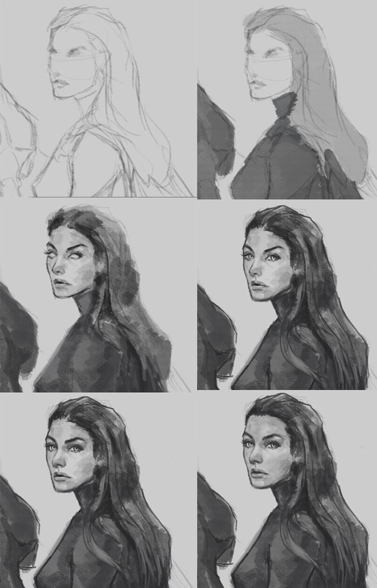 learn to draw and paint portrait