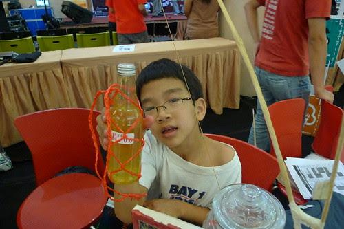 Kid selling organic lemonade