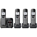 Panasonic Link2Cell Bluetooth Cordless Phone - 4 Handsets (KX-TGD564M / KXTGD564)
