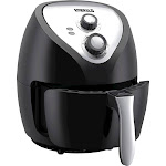 Emerald - 4L Analog Air Fryer - Black