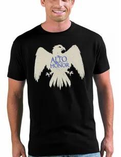 Camiseta juego de tronos Casa Arryn manga corta negra