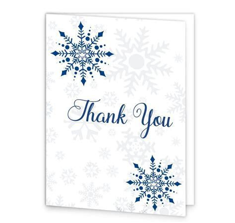 Snowflake Wedding Thank You Cards   Loving Invitations