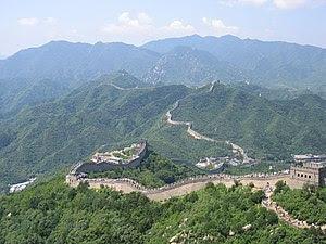English: The Great Wall of China at Badaling D...