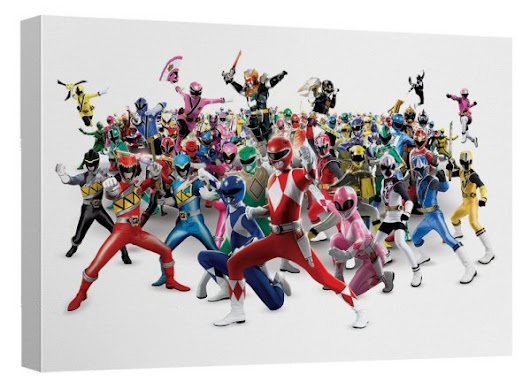 Power Rangers 25th Anniversary Wall Art Released - Power Rangers NOW