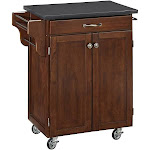 Home Styles Cuisine Cart in Rustic Cherry Finish