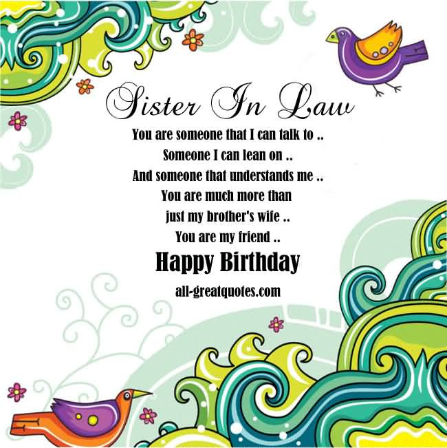 Bday Wishes For Sis In Law Birthday Wishes For Sister In Law To