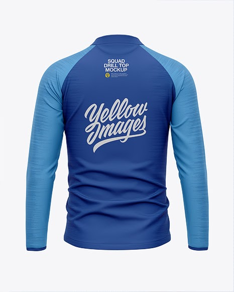 Download Mens Squad Drill Top Back View Jersey Mockup PSD File 427 ...
