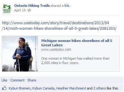 ontario hiking news