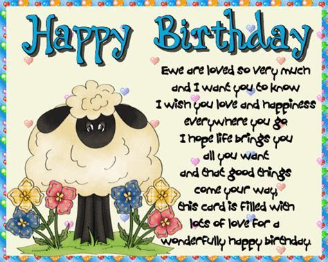 Ewe Are Loved. Free Happy Birthday eCards, Greeting Cards