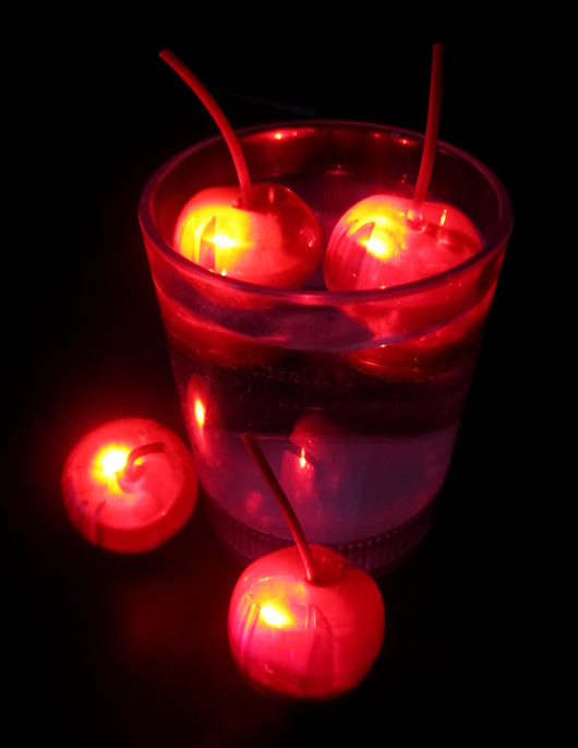 Glowing LED Cherries for Drinks and Lighted Displays!