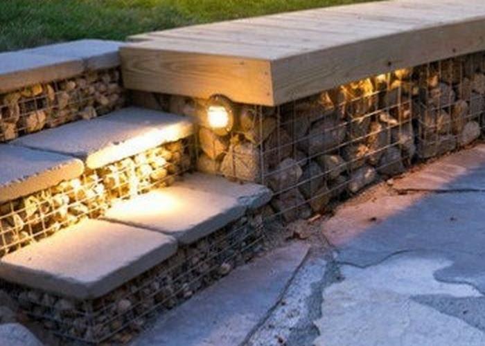 gabion seating steps 3