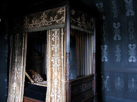 Bedroom of Louise de Lorraine at Chateau de Chenonceau in the Loire Valley