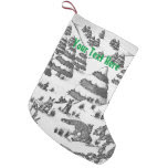 cute fox and rabbits christmas snow scene small christmas stocking