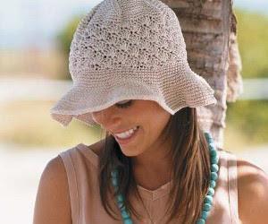 Natural Colored Floppy Brim Hat