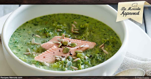Ketogenic Broccoli Soup With Wild Trout and Rosemary