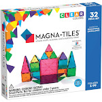 Magna-Tiles Clear Colors - 32 Piece Set