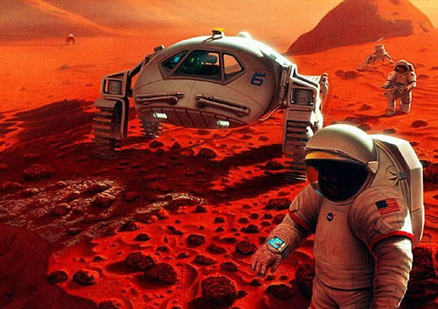 French scientists have been testing the effects of microgravity on Earth. They found that long-duration missions, such as to Mars (illustration shown), could affect the immune system. Superficially, prolonged microgravity caused mice to experience changes also observed in elderly mice
