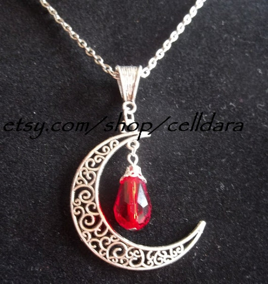 Moonblood Necklace by CellDara on Etsy