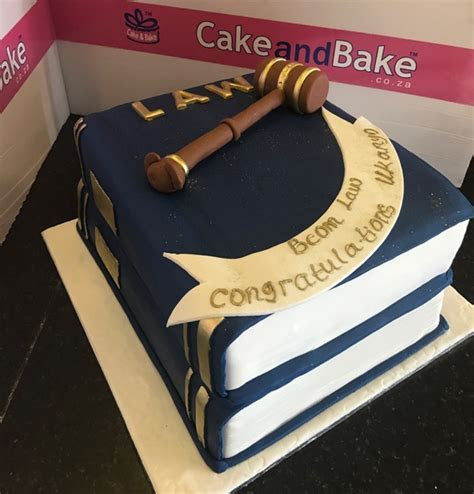 2 Tier Graduation Stacked Bcom Law ? Cake And Bake