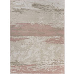 LR Resources MEADO81542IVW7995 7 ft. x 9 in. x 9 ft. x 5 in. Abstract Blush Brushstroke Area Rug Ivory & Blush