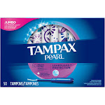 Tampax Pearl Tampons, Ultra Aborbency, Jumbo - 50 tampons