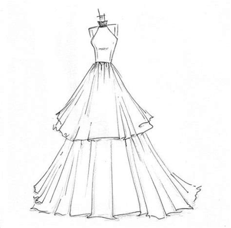 simple dress sketches designs  fashion style art