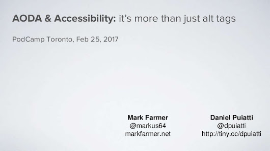 Accessibility and AODA: it's more than just alt tags