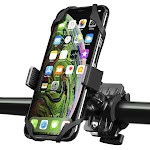 Insten Bike Bicycle Cell Phone Mount Phone Holder Motorcycle Ram Handlebar with Secure Grip for iPhone 11 / 11 Pro / 11 Pro Max X XS XR 8 7 6 6s Plus