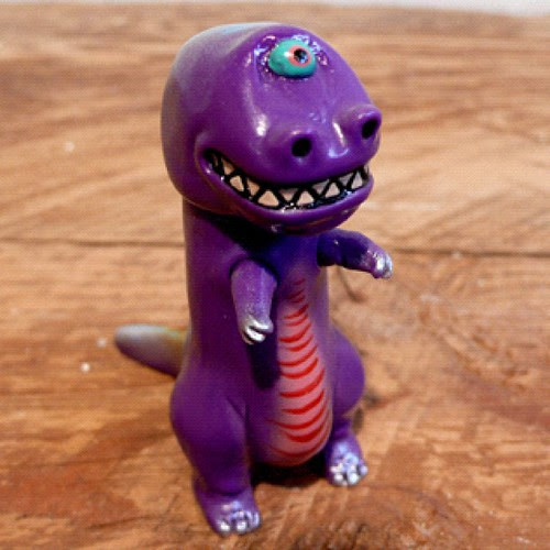 One-off T-clops - in the Grasshut shop now!  http://grasshutcorp.com/blog/products-page/san-diego/rampage-toys-cycloptic-dinosaurs-purple-t-rex/