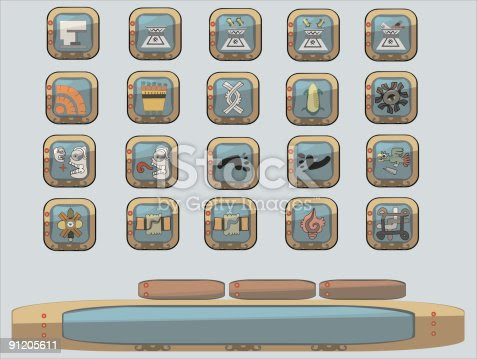 Aztec Theme, icon and buttons.