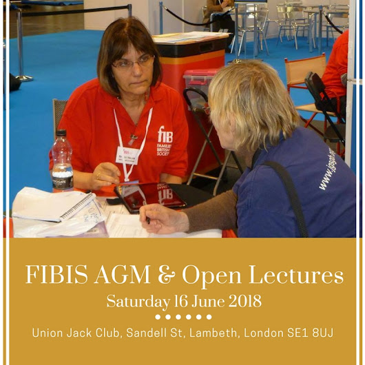 FIBIS AGM and Open Lecture Meeting – 16 June 2018