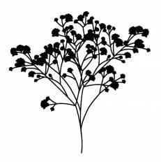 草花シルエット イラストの無料ダウンロードサイトシルエットac