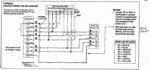 Rheem Heat Pump T Stat Wiring Diagram