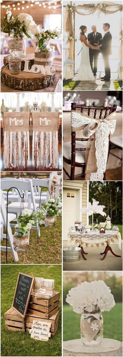 country rustic wedding ideas  burlap & lace wedding theme
