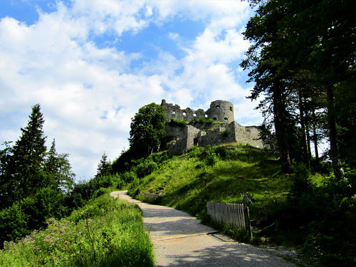 Ehrenberg Castle Ruins in the Austrian Alps