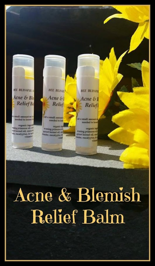 ACNE BLEMISH RELIEF Balm with Evening by BeeBlissfulBeauty on Etsy